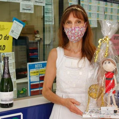 La suerte sonríe a Cuéllar con 600.000 euros del primer premio de la Lotería Nacional