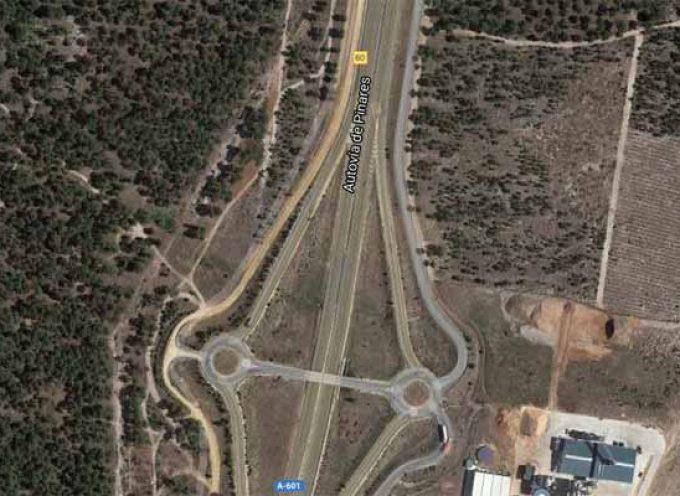 Corte de tráfico en el enlace de Sanchonuño de la A-601, por obras de ensanche y mejora