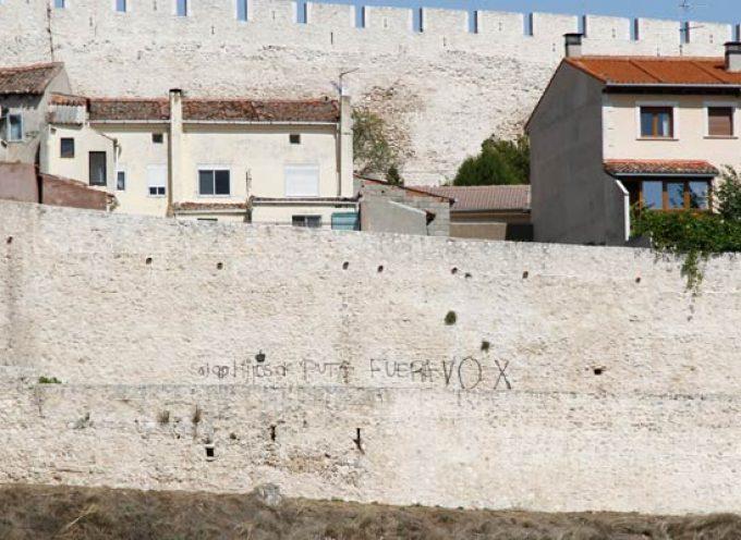"""Patrimonio anuncia que las pintadas realizadas en la muralla de Cuéllar """"no van a quedar impunes"""""""
