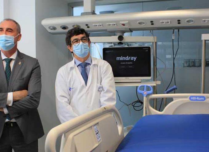 Las obras de ampliación dotan de seis nuevos puestos la UCI del Hospital General de Segovia