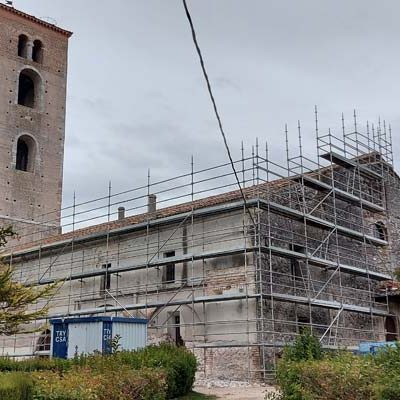 Comienzan las obras de restauración de la iglesia de la Cuesta