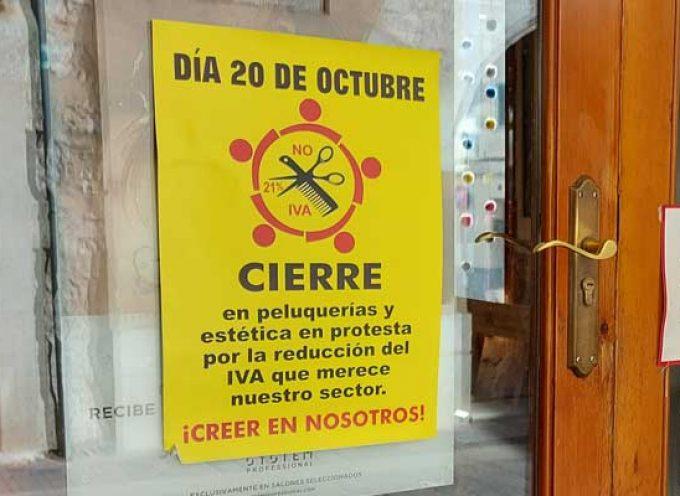 Peluquerías de la comarca se suman mañana al cierre y a la concentración por la reducción del IVA