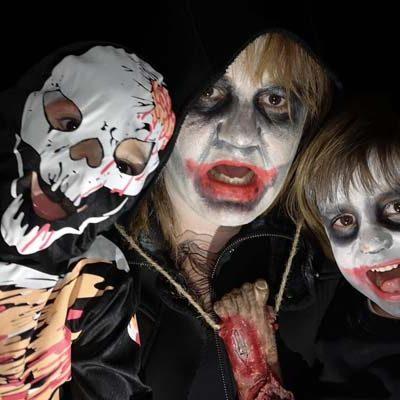 Mascarillas y fotos terroríficas para celebrar Halloween en los colegios de Cuéllar