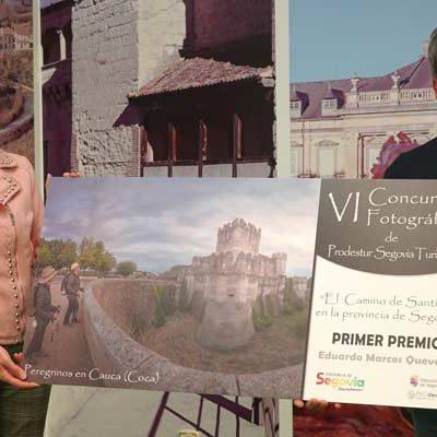El cuellarano Eduardo Marcos recogió su primer premio del certamen fotográfico de Prodestur