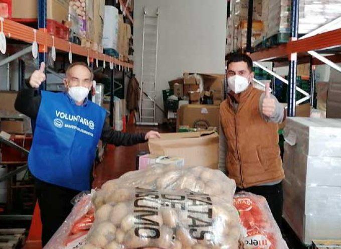 La recogida de alimentos de la Peña Blanquivioleta supera los 4.250 kilos