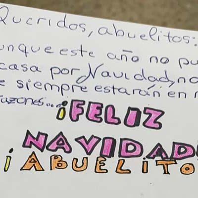Alumnos de los colegios de San Gil y La Villa envían sus mejores deseos navideños a los centros de mayores de Cuéllar