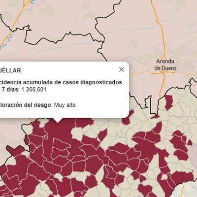 Aumentan los brotes en Cuéllar, Hontalbilla, Carbonero el Mayor y Aguilafuente