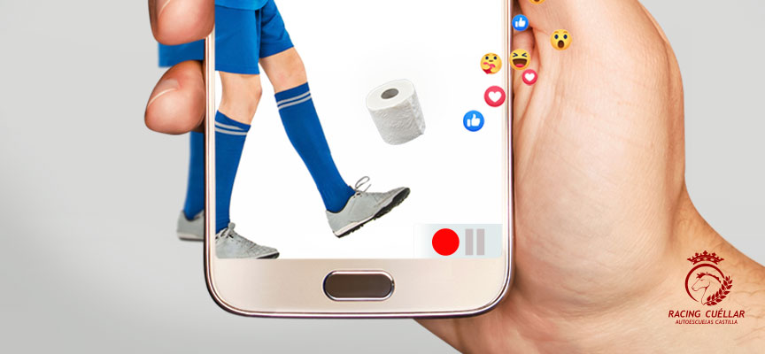 Detalle de la imagen promocional del Torneo Benéfico Virtual de Fútbol Sala 2020 del Racing Cuéllar.