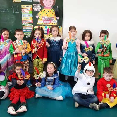 El carnaval invadió las aulas de los tres colegios de Cuéllar