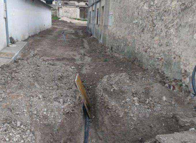 El Ayuntamiento desarrolla los trabajos de acondicionamiento de dos calles en Dehesa de Cuéllar