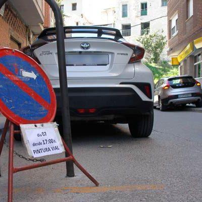 Tráfico reorganiza el aparcamiento en la plaza de los Lavaderos de Cuéllar y fija plazas de estacionamiento limitado
