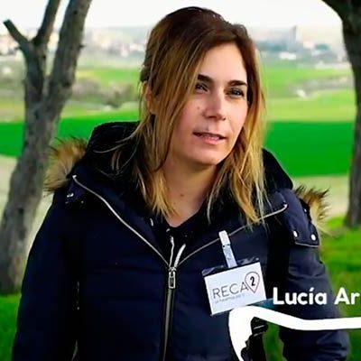 La cuellarana Lucía Arranz es una de las protagonistas de la nueva campaña institucional de la Diputación