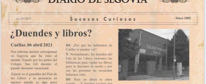 Los alumnos del CEIP San Gil cierran la `Semana del libro´ ayudando al duende Tejuelo a salvar su biblioteca