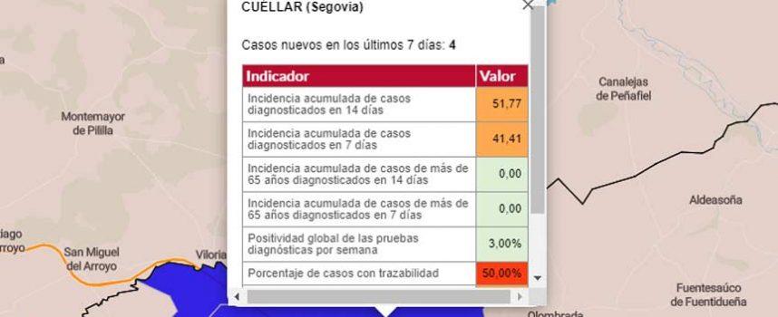 Cuéllar notifica un brote con tres positivos y nueve contactos en estudio