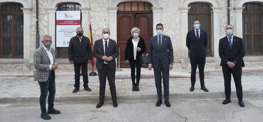 Visita rehabilitación Ayuntamiento de Olombrada