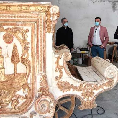 Cultura y Turismo invierte 16.000 euros en la restauración de la carroza del siglo XVIII de la Virgen de El Henar