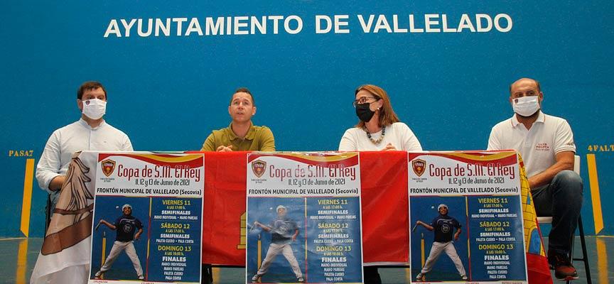 Presentación Copa del Rey en el frontón de Vallelado
