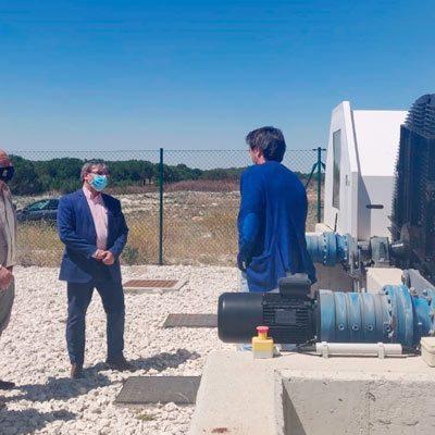 La Junta construye la EDAR en Campaspero con una inversión de 1,8 millones de euros