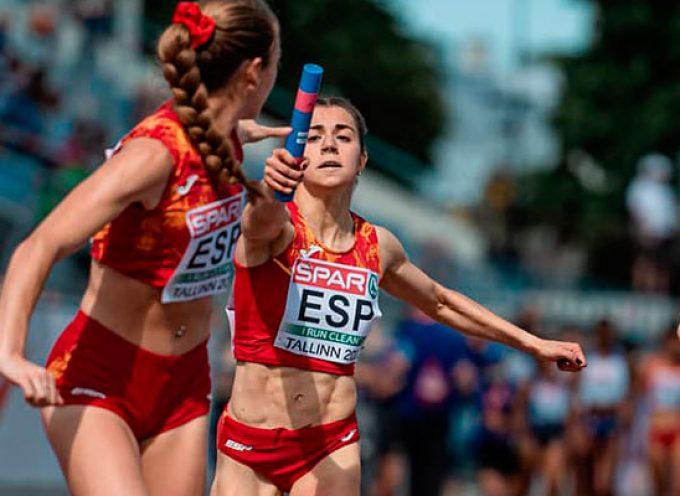 La cuellarana Ángela García cerró en Estonia su mejor temporada