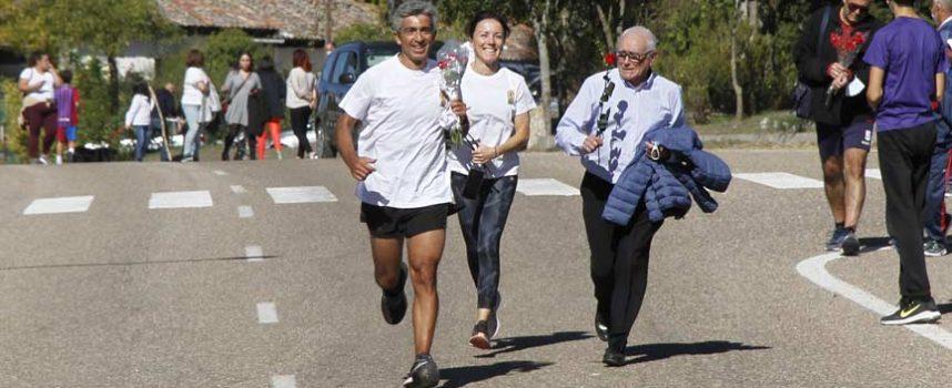 De Valladolid a El Henar corriendo con flores para la Virgen en su Año Jubilar